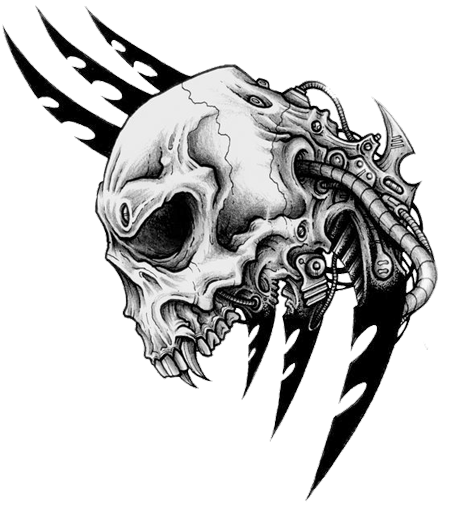 Skull Tattoo Png Picture Png Image - Tribal Skull Tattoos, Transparent background PNG HD thumbnail