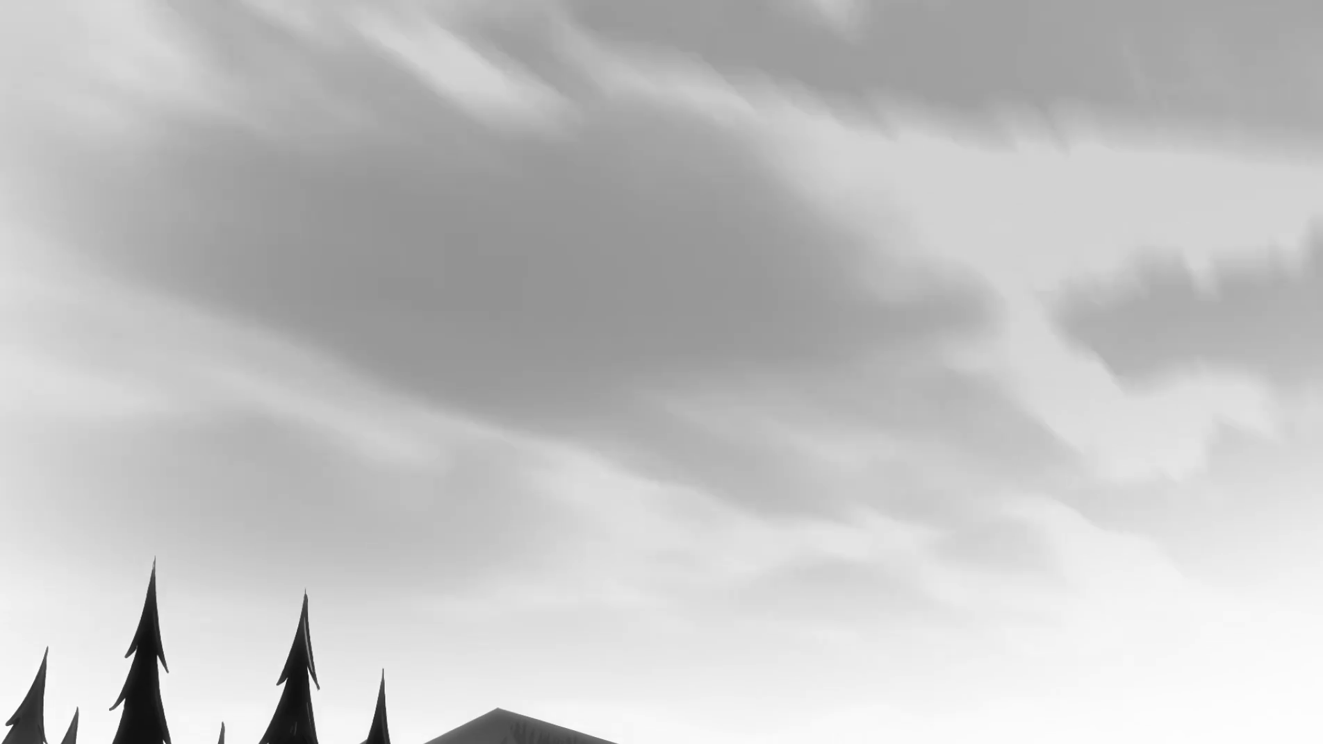 Sky PNG Black And White