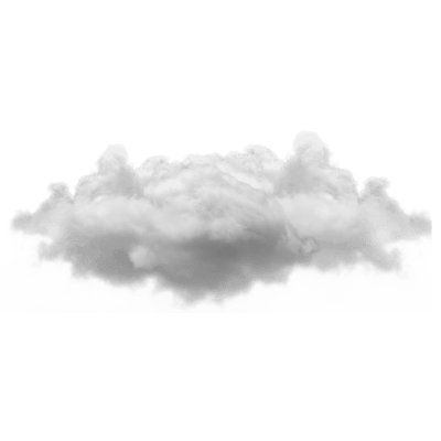 Small Single Cloud - Sky Black And White, Transparent background PNG HD thumbnail