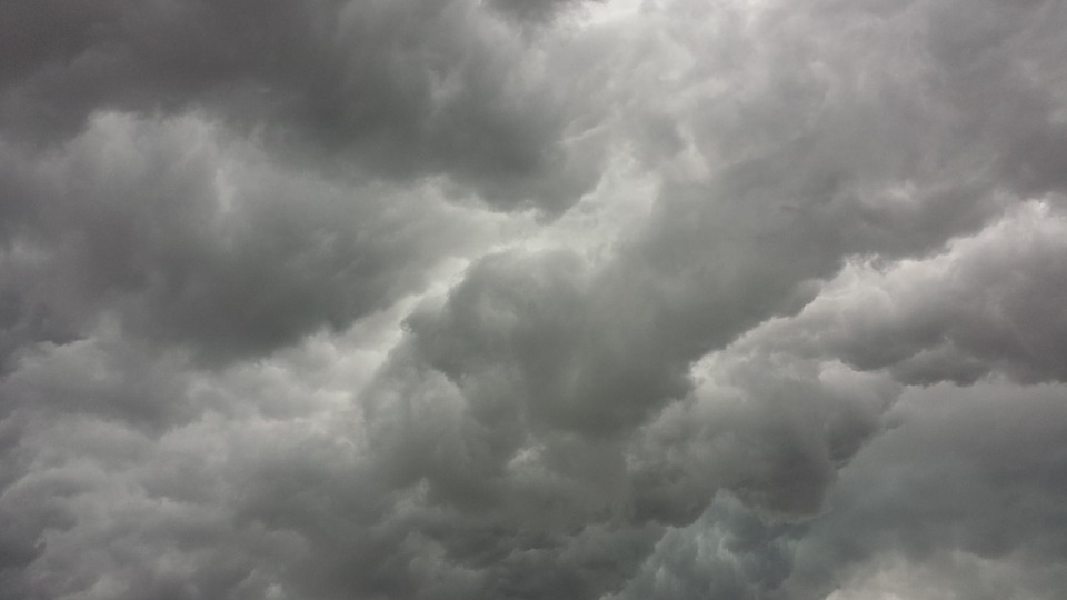 Storm Clouds, Clouds, Thunderstorm, Grey, Sky, Gloomy - Sky Black And White, Transparent background PNG HD thumbnail