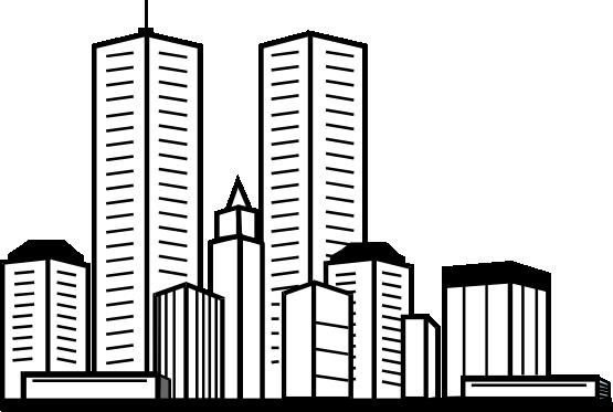 Skyscraper PNG Black And White