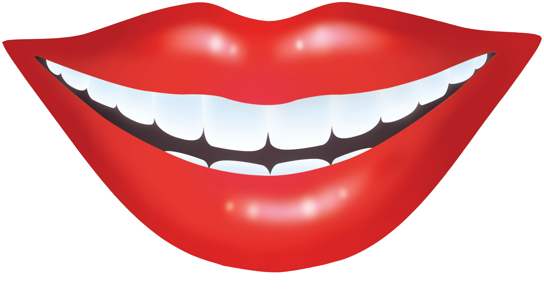 Smiling Red Lips - Smile Lips, Transparent background PNG HD thumbnail