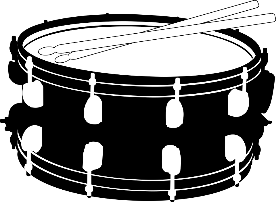 Snare Drum Png Black And White - Drums Snare Music Sticks Drum Sticks Small Drum, Transparent background PNG HD thumbnail