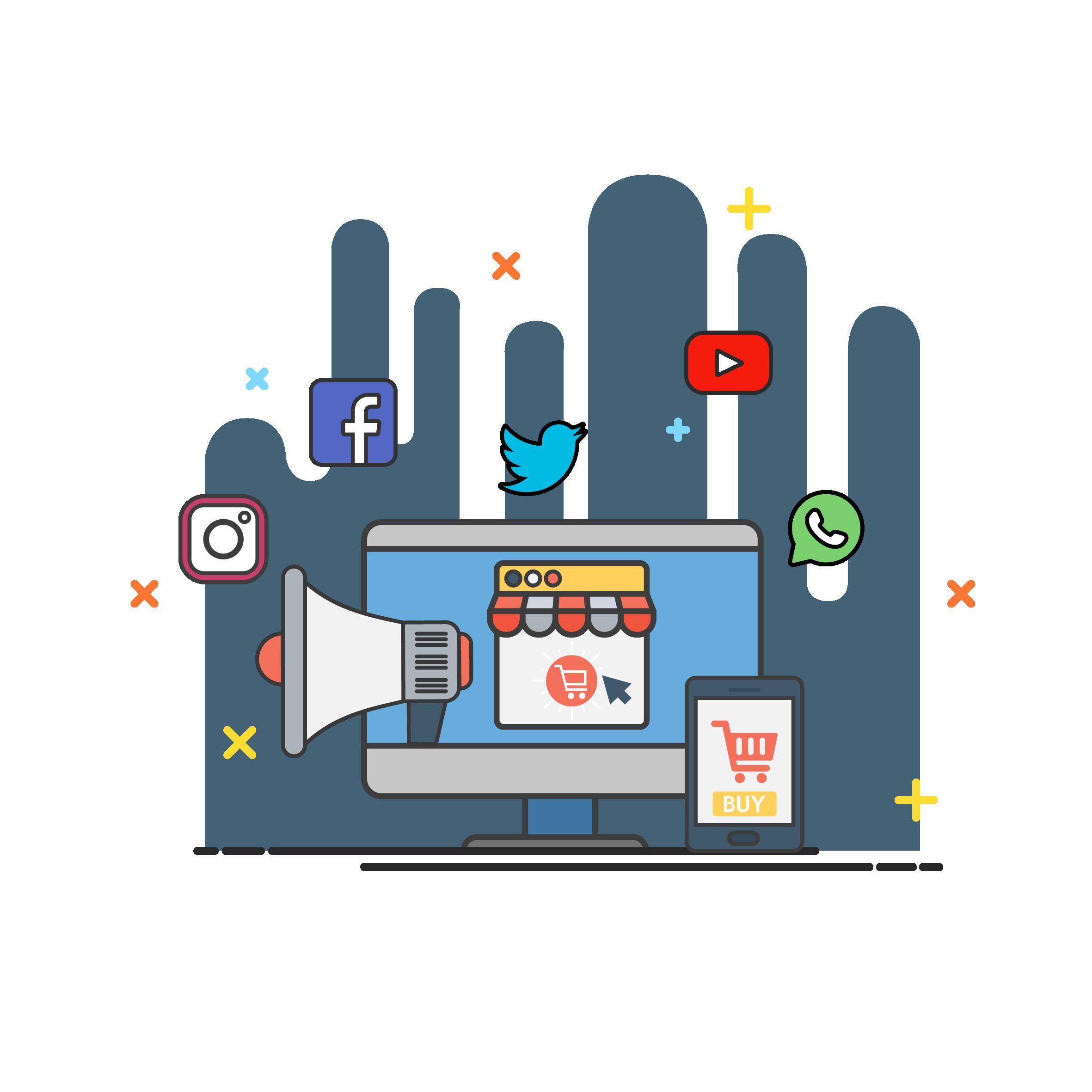 Social Media Advertising - Advertising, Transparent background PNG HD thumbnail