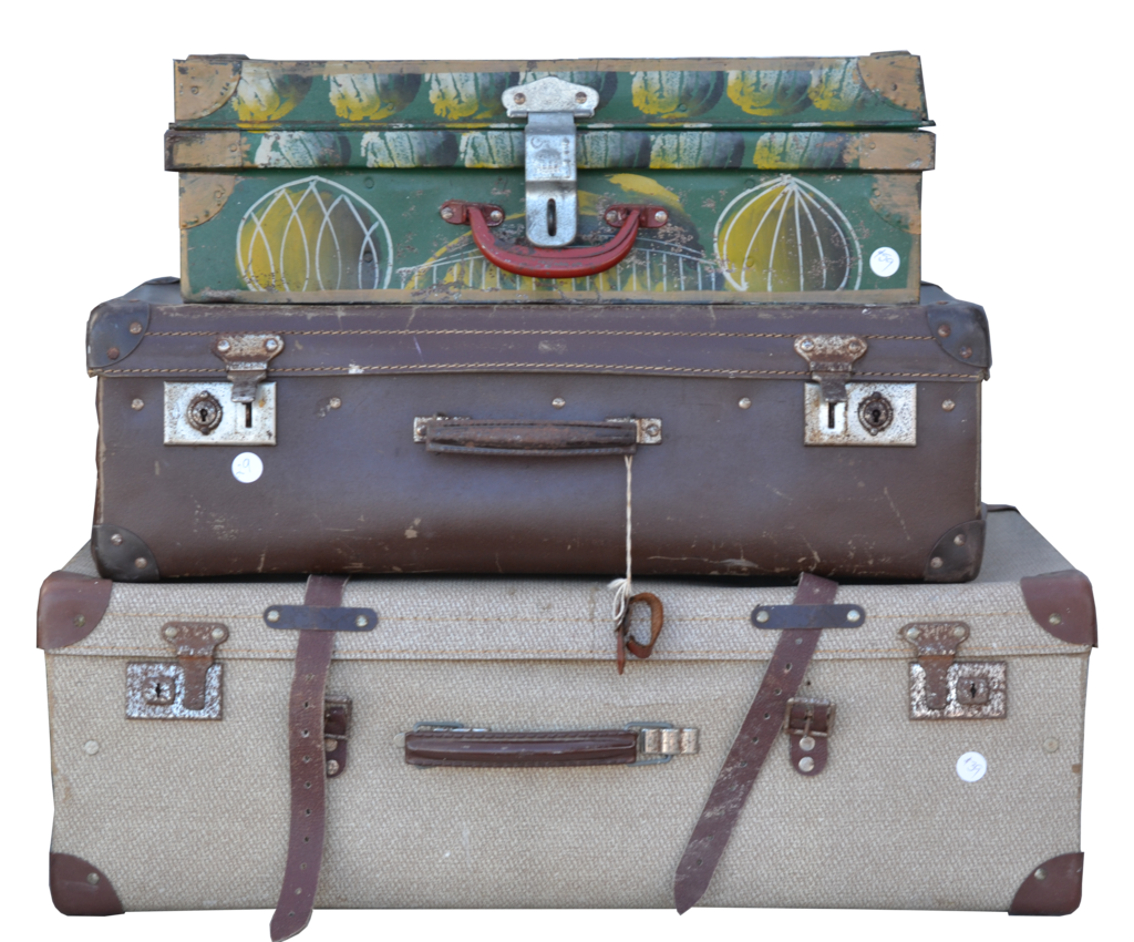 Stacked Luggage PNG