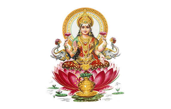 Goddess Lakshmi Puja - Standing Laxmi, Transparent background PNG HD thumbnail