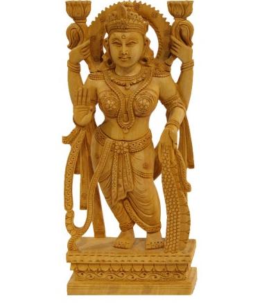 Goddess Lakshmi Standing Idol - Standing Laxmi, Transparent background PNG HD thumbnail