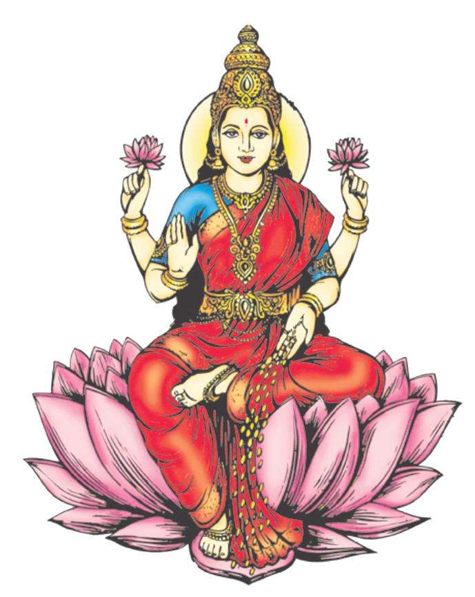 Lakshmi Png Transparent Images - Standing Laxmi, Transparent background PNG HD thumbnail