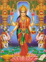 Lakshmi: The Hindu Goddess Of Beauty And Prosperity - Standing Laxmi, Transparent background PNG HD thumbnail