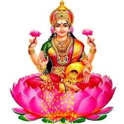 Mother Lakshmi - Standing Laxmi, Transparent background PNG HD thumbnail