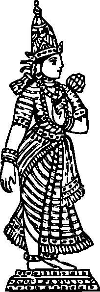 Png: Small · Medium · Large - Standing Laxmi, Transparent background PNG HD thumbnail