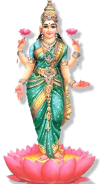 The Third Day Of Diwali - Standing Laxmi, Transparent background PNG HD thumbnail