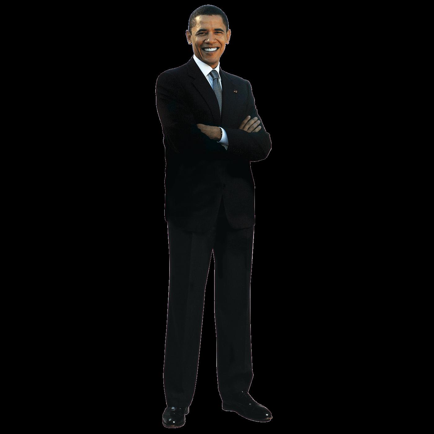 Standing Obama - Barack Obama, Transparent background PNG HD thumbnail