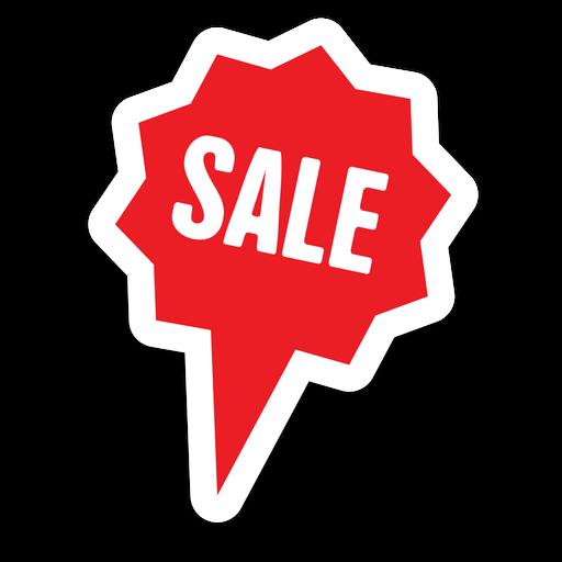 Star Bubble Sale Sticker Png - Sale, Transparent background PNG HD thumbnail