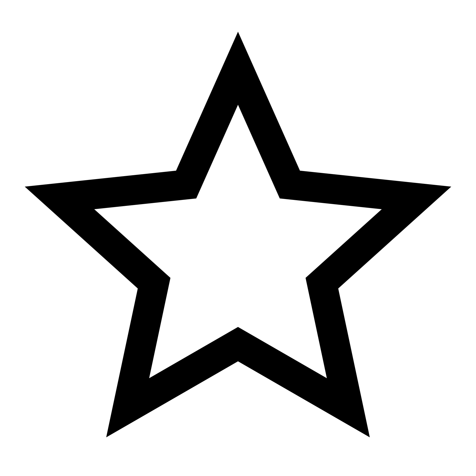 Star Icon - Star, Transparent background PNG HD thumbnail