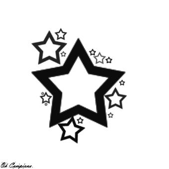 Star Tattoo Design By Oh Campione.deviantart Hdpng.com On @deviantart - Star Tattoos, Transparent background PNG HD thumbnail