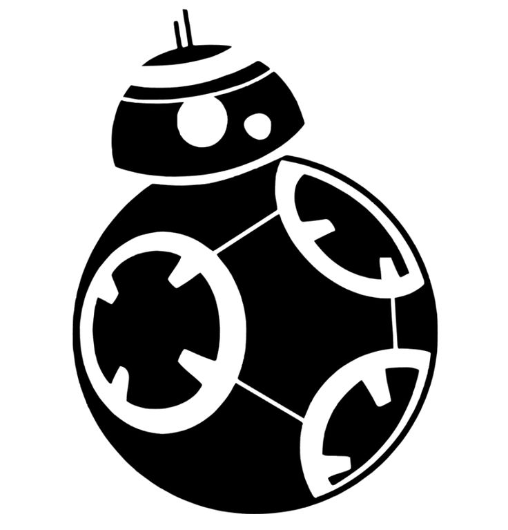Bb 8 Star Wars Silhouette Portrait File - Star Wars Black And White, Transparent background PNG HD thumbnail