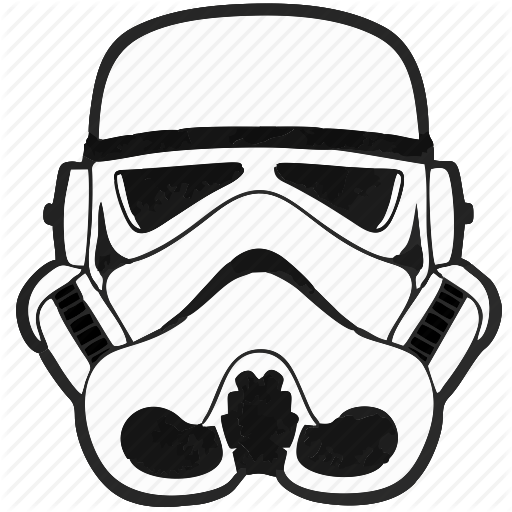 Droid, Helmet, Soldier, Star, Starwars, Wars Icon - Star Wars Black And White, Transparent background PNG HD thumbnail