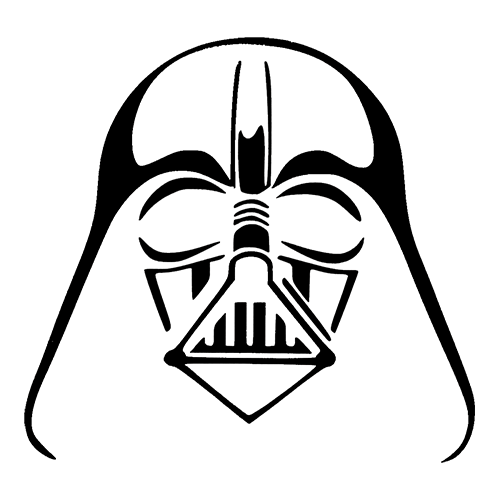 Star Wars Darth Vader Die Cut Vinyl Decal Pv1024 - Star Wars Black And White, Transparent background PNG HD thumbnail