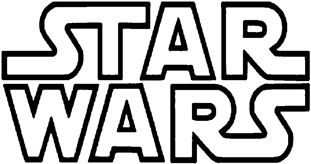 Star Wars Logo #998 - Star Wars Black And White, Transparent background PNG HD thumbnail