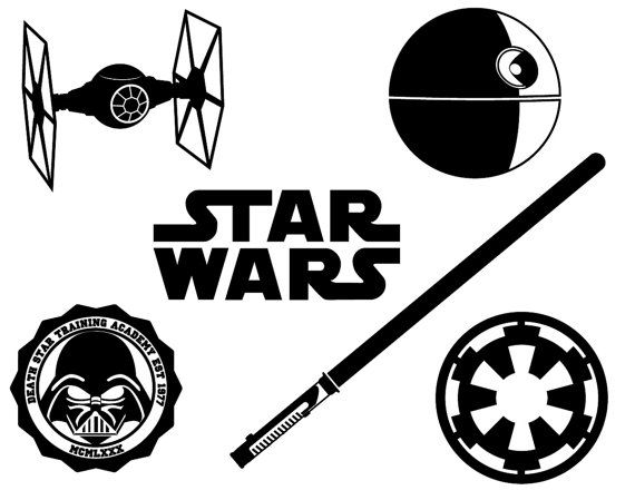 Star Wars Silhouette Files Clipart - Star Wars Black And White, Transparent background PNG HD thumbnail