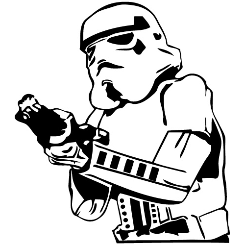 Star Wars Stormtrooper Die Cut Vinyl Decal Pv710 - Star Wars Black And White, Transparent background PNG HD thumbnail