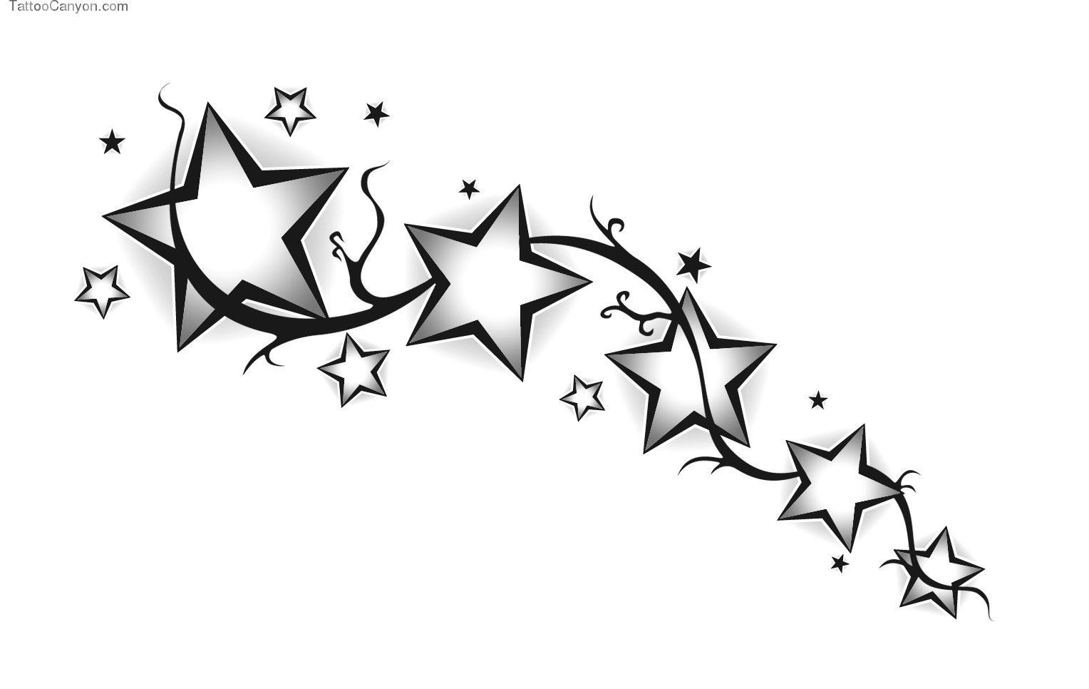 Stars Tattoos Png Image #19380 - Star Tattoos, Transparent background PNG HD thumbnail