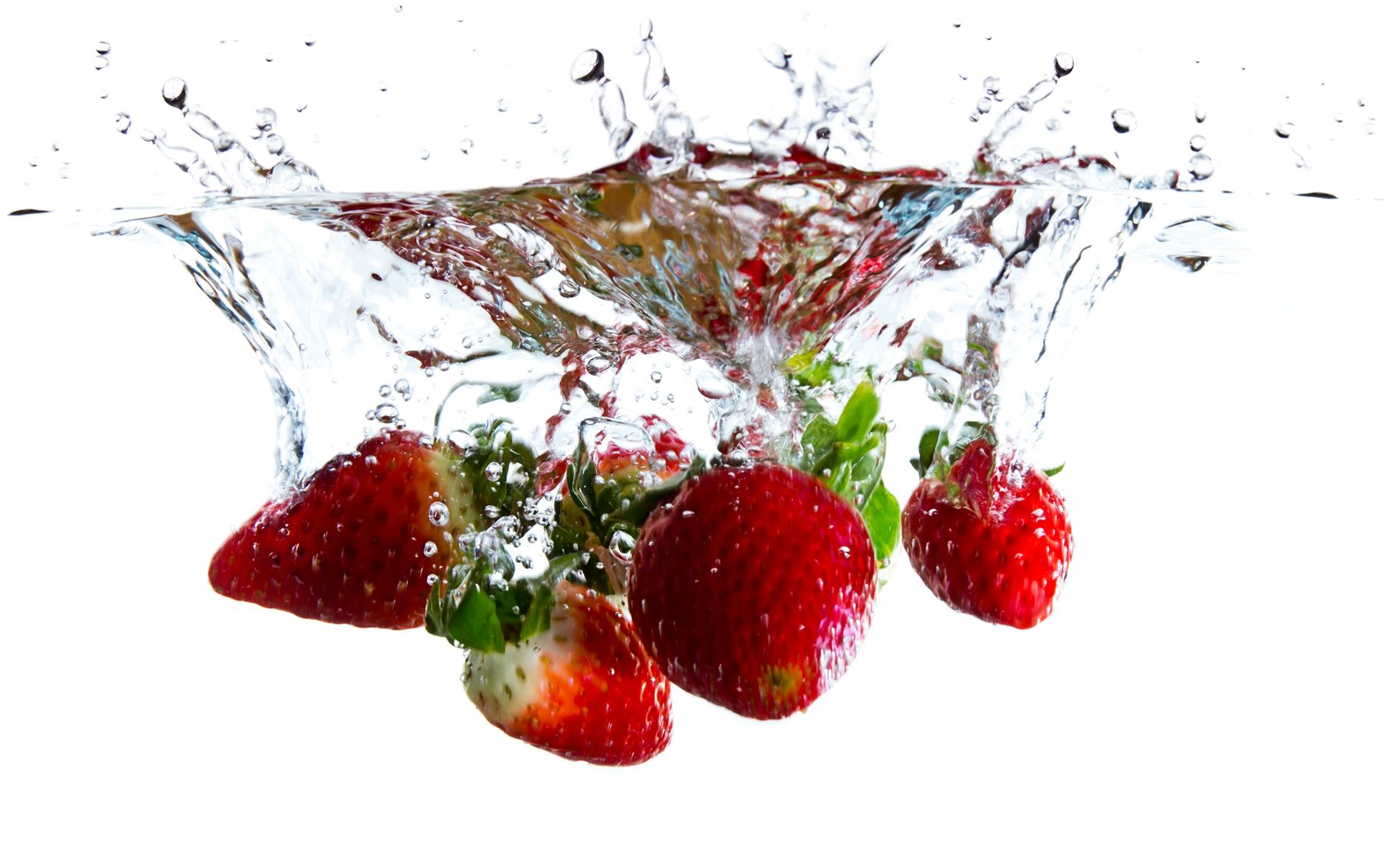 Strawberry Water Splash - Fruit Water Splash, Transparent background PNG HD thumbnail