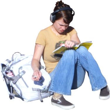 Student Sitting PNG