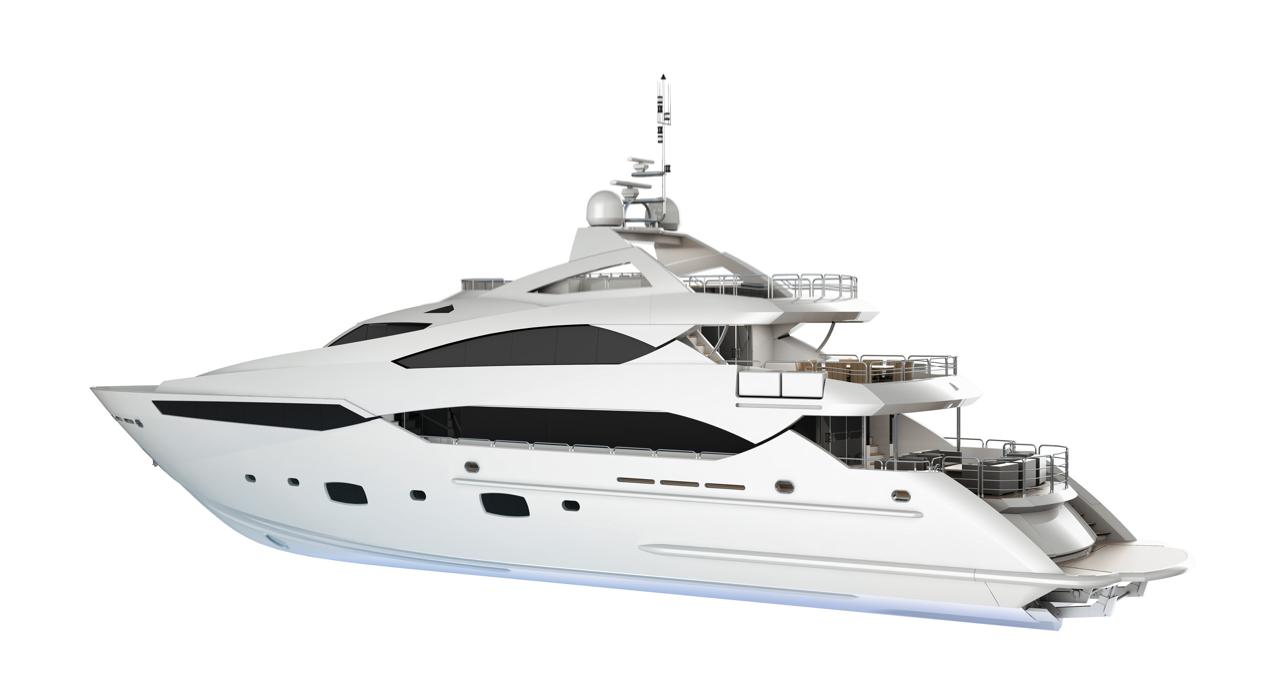 Sunseeker 40 Metre Yacht - Yacht, Transparent background PNG HD thumbnail