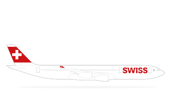 Airbus A340 300 - Swiss International Air Lines, Transparent background PNG HD thumbnail