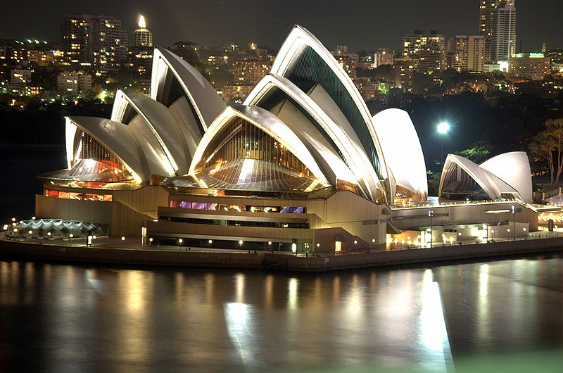 800Px Sydney Opera House Night.png - Sydney, Transparent background PNG HD thumbnail