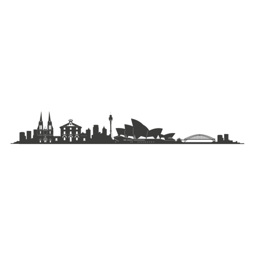 Sydney Skyline Silhouette Png - Sydney, Transparent background PNG HD thumbnail