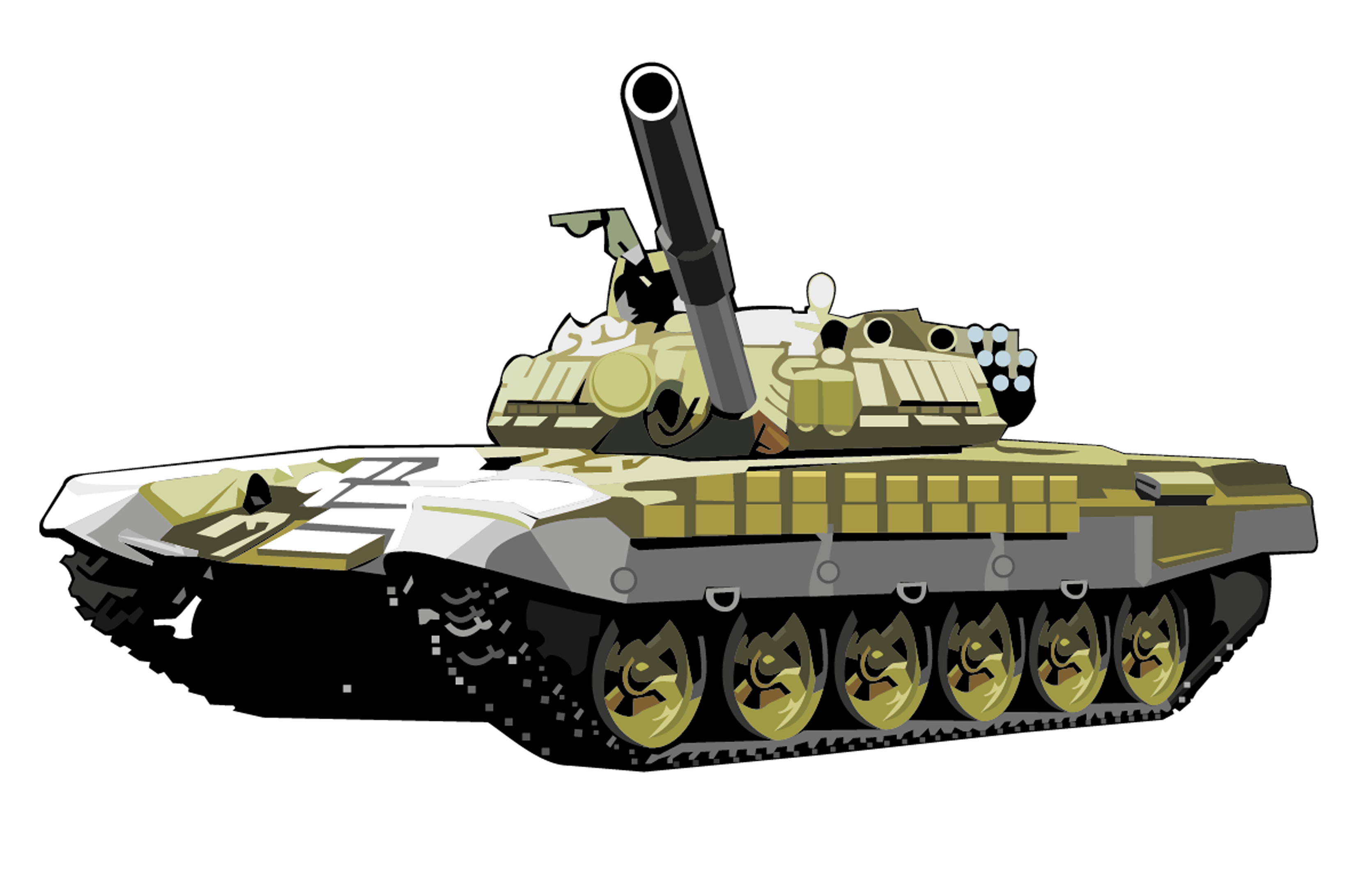 Military Tank Png - T72 Tank Png Image, Armored Tank, Transparent background PNG HD thumbnail