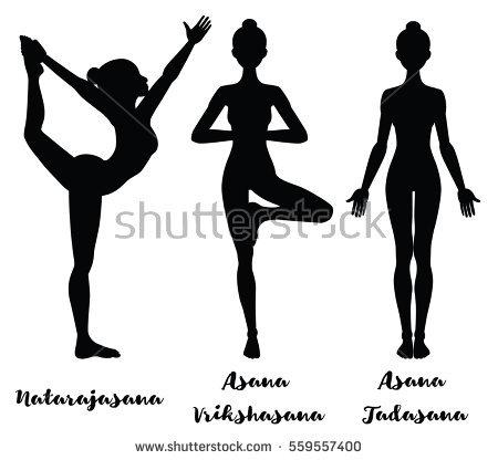 Tadasana Yoga Pose Png - Lord Of The Dance Yoga Pose. Natarajasana. Yoga Mountain Pose., Transparent background PNG HD thumbnail