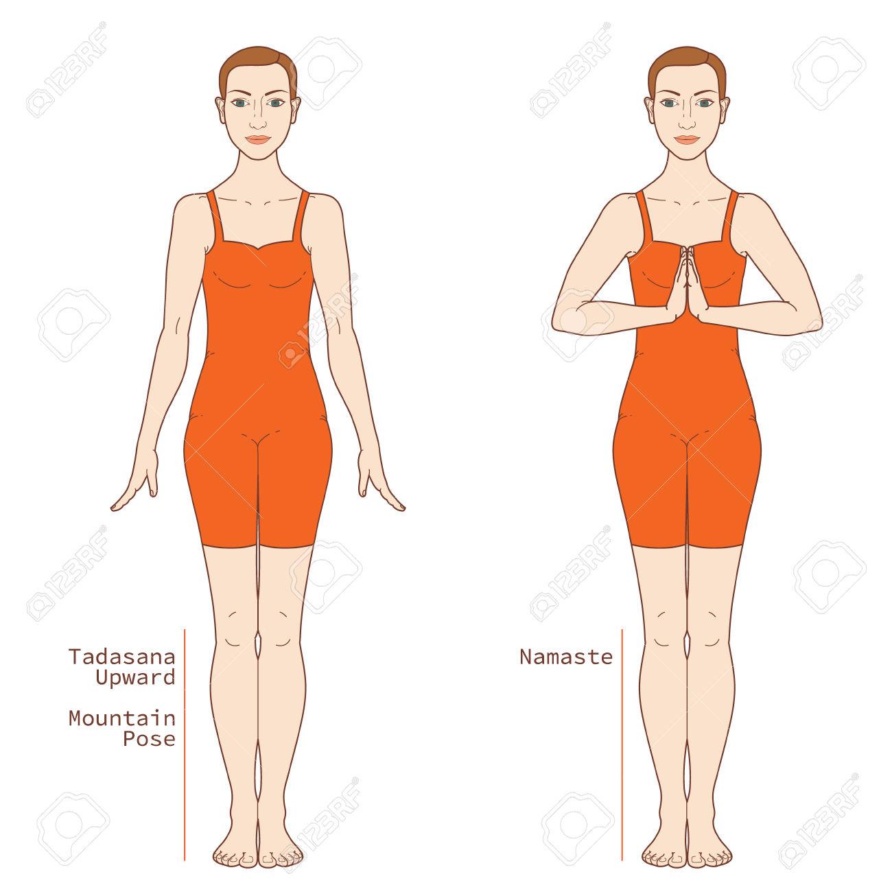 Tadasana Yoga Pose Png - Yoga Pose Image Includes The Phrase Tadasana, Transparent background PNG HD thumbnail