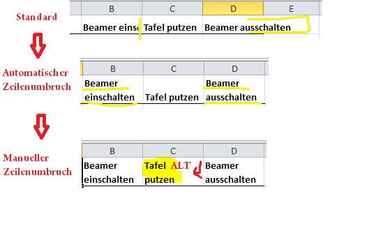 Excel_Zeilenumbruch_2 - Tafel Putzen, Transparent background PNG HD thumbnail