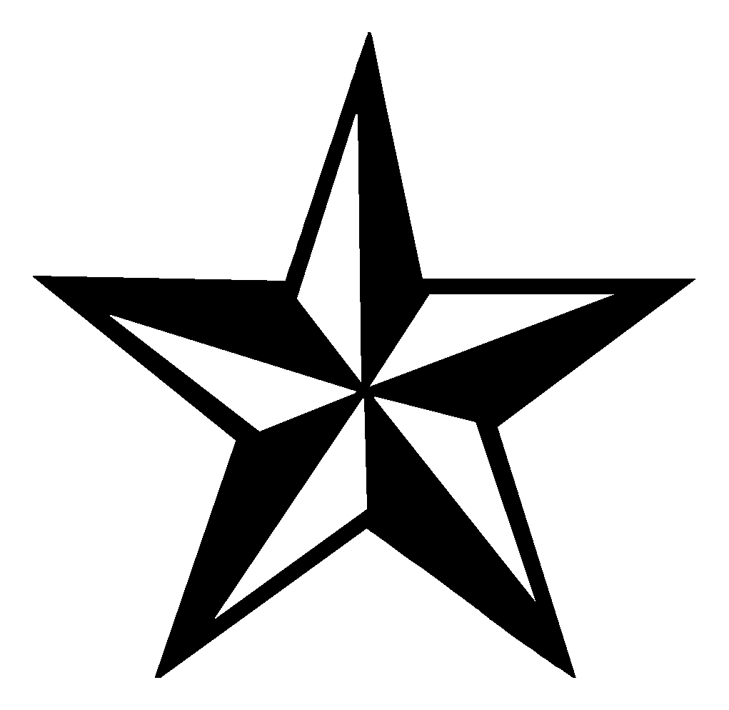 . Hdpng.com Tattoo Design Star 14 Black And White Nautical Star Tattoo Design.png Hdpng.com  - Star Tattoos, Transparent background PNG HD thumbnail