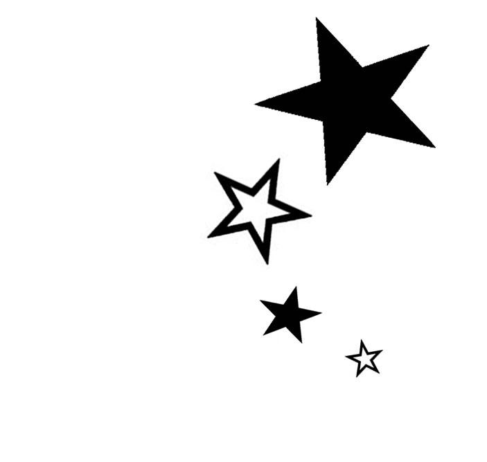 Tattoo Stencils - Star Tattoos, Transparent background PNG HD thumbnail