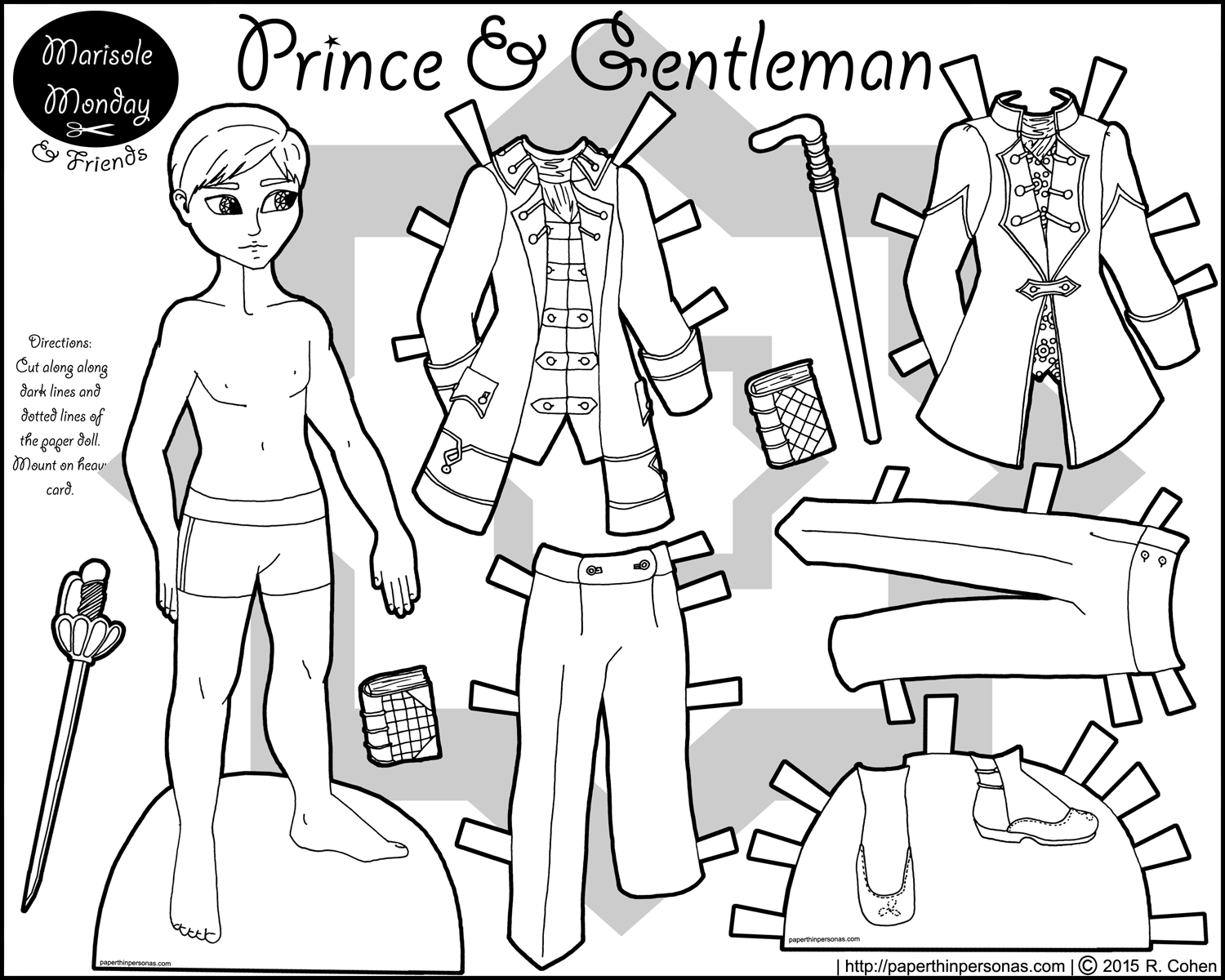 Marisole Monday U0026 Friends Archives U2022 Page 6 Of 27 U2022 Paper Thin Personas - Thin Boy Black And White, Transparent background PNG HD thumbnail