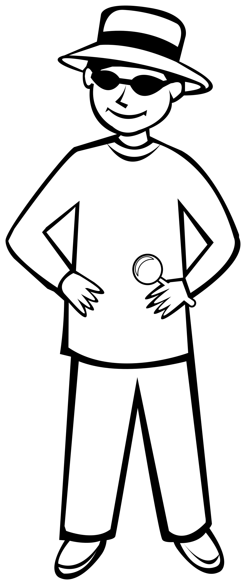 This Free Icons Png Design Of Spy Kid Outline 1 Hdpng.com  - Thin Boy Black And White, Transparent background PNG HD thumbnail