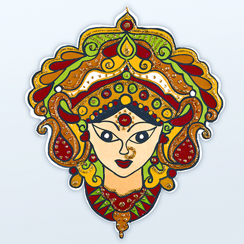 This Beautiful Face Of Goddess Durga Is Sure To Bring Prosperity To Your Home. Add - Goddess Durga Maa, Transparent background PNG HD thumbnail