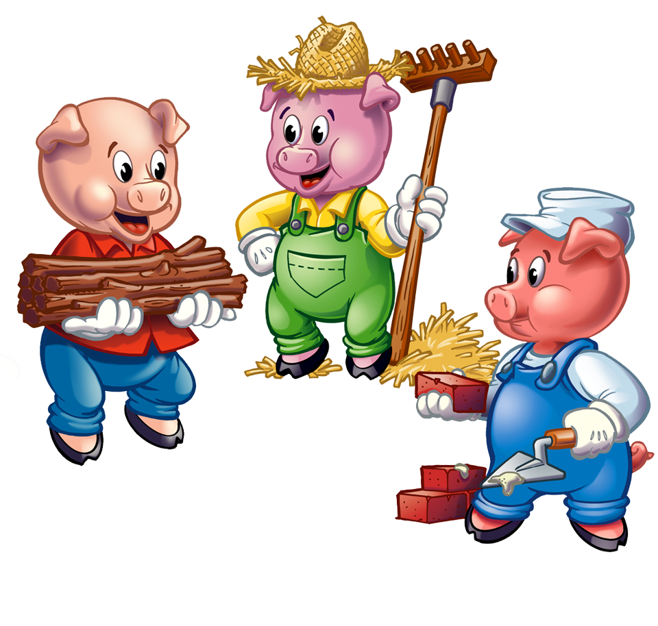 Three Little Pigs PNG HD