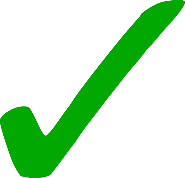 Free Clipart Green Check Mark - Tick Mark, Transparent background PNG HD thumbnail