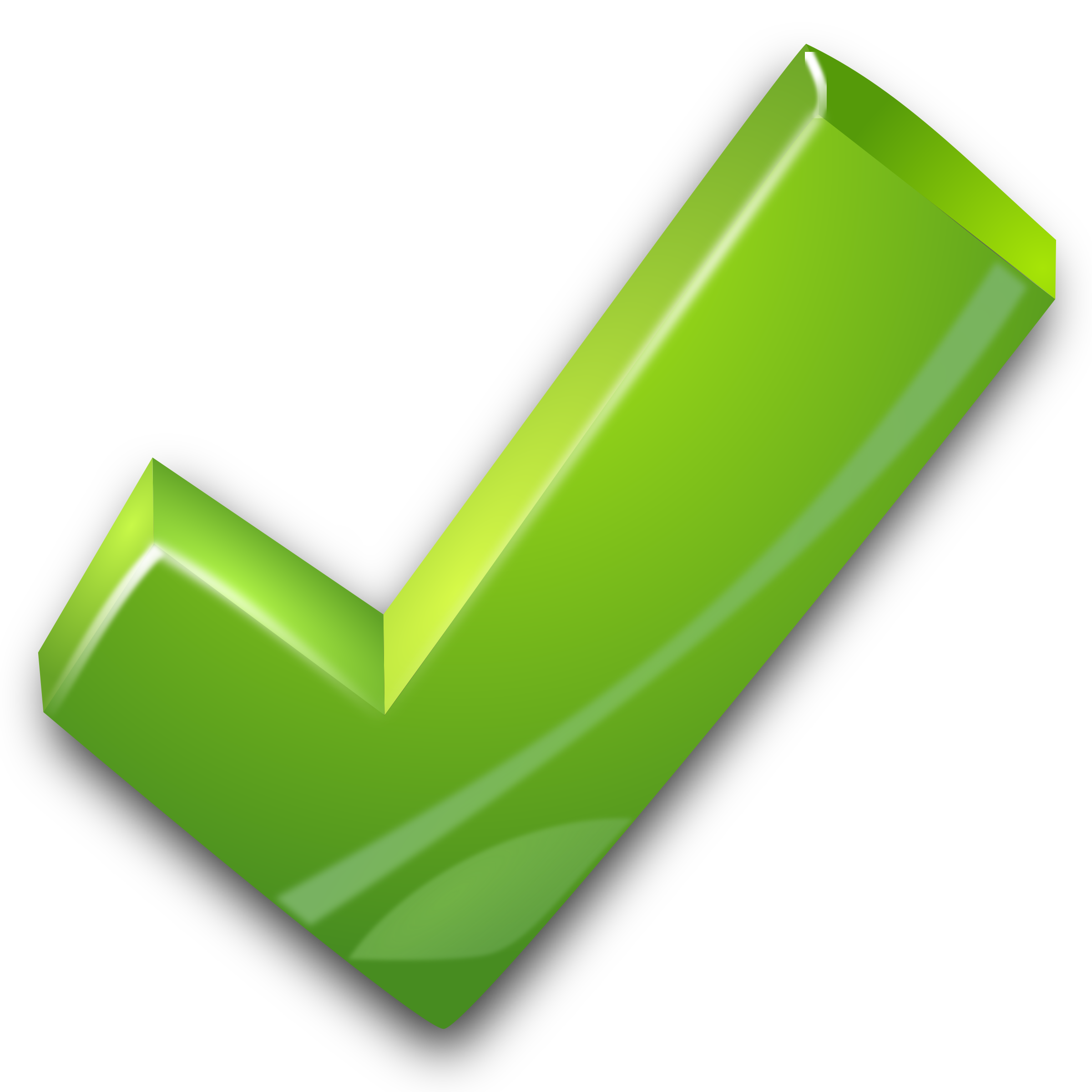 Green Tick Png Photo - Tick Mark, Transparent background PNG HD thumbnail