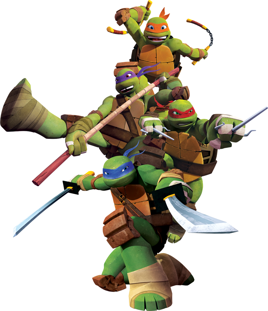 Tmnt 2012 The Turtles.png - Tmnt, Transparent background PNG HD thumbnail