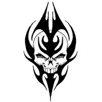 Top Tribal Skull Tattoos Png Images - Tribal Skull Tattoos, Transparent background PNG HD thumbnail