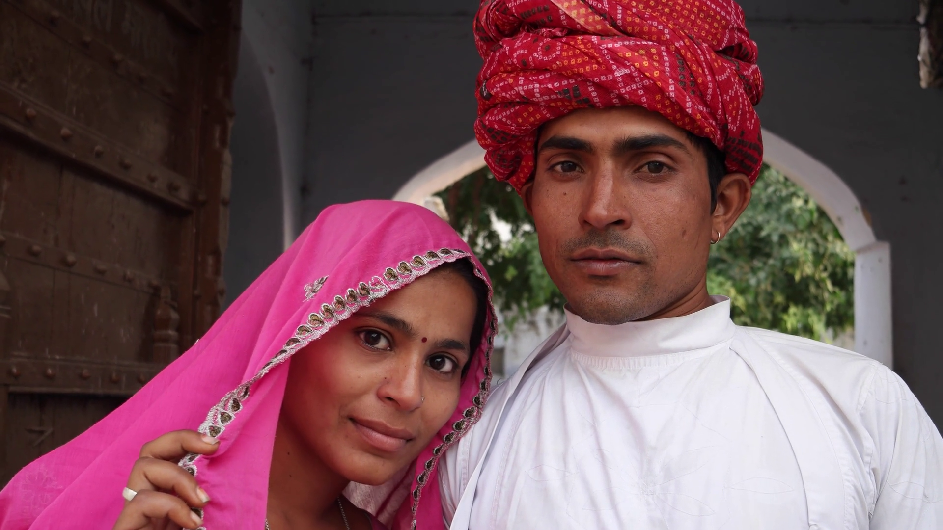 Traditional Dress Of Rajasthan Png - Attractive Indian Couple In Traditional Dress Against Old Heritage Architectural Backdrop In Rajasthan, India Stock Video Footage   Videoblocks, Transparent background PNG HD thumbnail