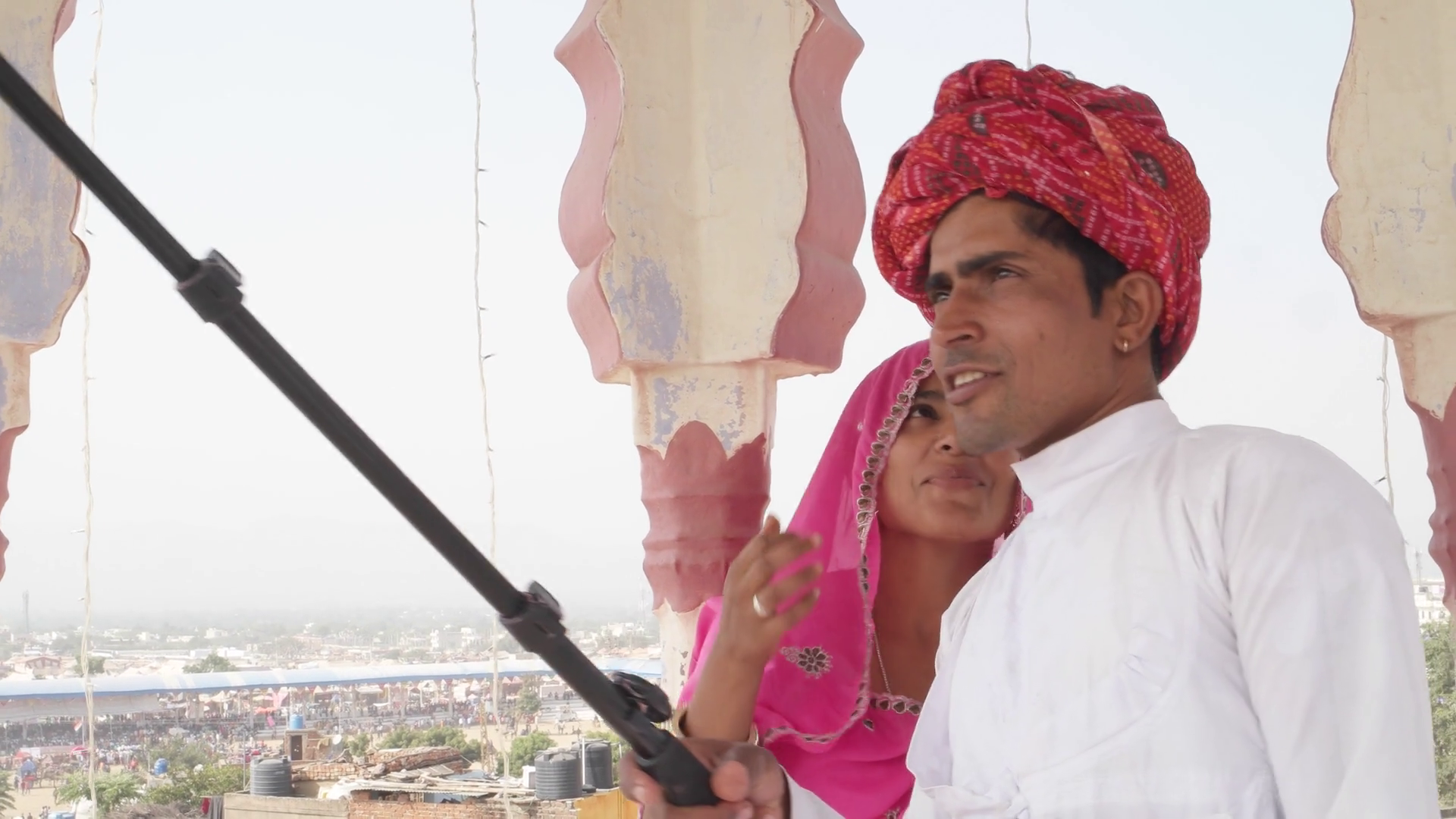 Traditional Dress Of Rajasthan Png - Attractive Indian Couple In Traditional Dress Getting Ready And Take Selfies On Their Mobile Phone Camera In Rajasthan, India Stock Video Footage   Hdpng.com , Transparent background PNG HD thumbnail