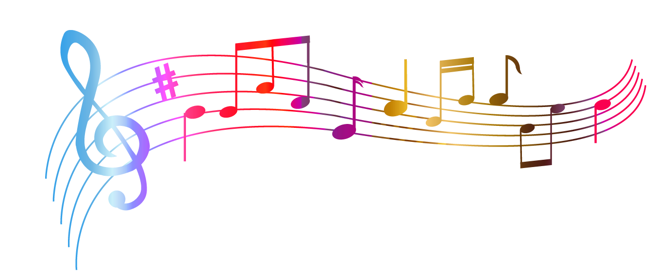 Transparent Colorful Notes Png Clipart - Music, Transparent background PNG HD thumbnail